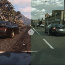 GTA V using Photorealistic Machine Learning